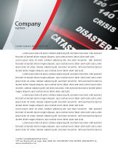 Financial/Accounting: Catastrophe Speedometer Letterhead Template #06936