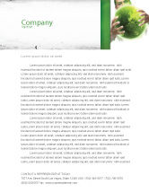 Nature & Environment: Green World in Human Hands Letterhead Template #06955
