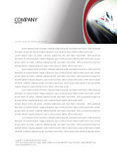 Cars/Transportation: High-Speed Train Letterhead Template #06963