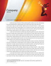 Art & Entertainment: Happy Girl Letterhead Template #06991