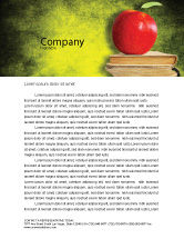 Education & Training: Apple and Books Letterhead Template #06997