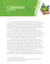 Nature & Environment: Plantilla de membrete - hábitat verde #07037