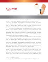 Medical: Foot Plaster Letterhead Template #07080