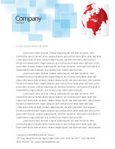 Global: Fragmented World Map Letterhead Template #07090