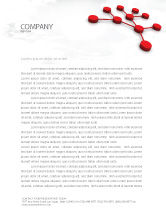 Technology, Science & Computers: Network Model Letterhead Template #07124