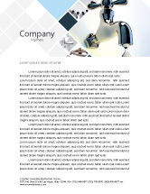 Nature & Environment: Water Tap Letterhead Template #07138