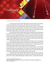 Technology, Science & Computers: Binary Strings Letterhead Template #07249