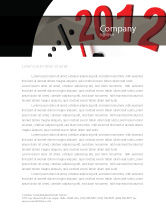 Holiday/Special Occasion: Time of 2012 Letterhead Template #07252