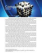 3D: Cube Pieces Concept Letterhead Template #07391