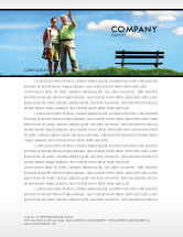 People: Old Couple Letterhead Template #07405