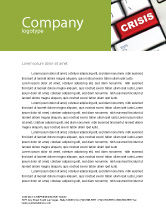 Financial/Accounting: Crisis Button Letterhead Template #07410