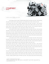 Consulting: 3 Dimensional Puzzle Letterhead Template #07476