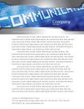 Telecommunication: Communication Stream Letterhead Template #07535
