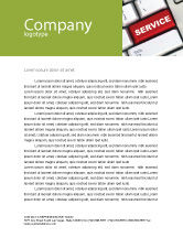 Careers/Industry: High-Tech Service Letterhead Template #07549
