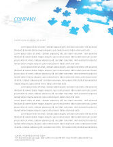 Consulting: Sky Puzzle Letterhead Template #07563