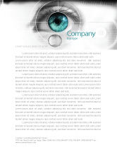Technology, Science & Computers: Selection of Contact Lenses Letterhead Template #07585