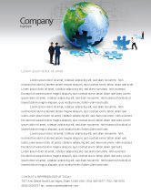 Global: Finalization Of Jigsaw World Letterhead Template #07611
