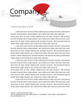 Consulting: Pie Chart Sector Carried By Man Letterhead Template #07619