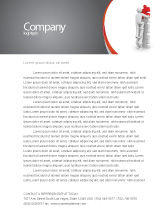 Consulting: Jigsaw Ladder Letterhead Template #07644