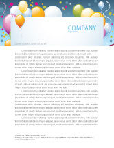 Holiday/Special Occasion: Greeting Card Letterhead Template #07775