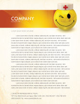Medical: Doctor Emoticon Letterhead Template #07777