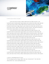 Technology, Science & Computers: Keyboard Theme Letterhead Template #07780