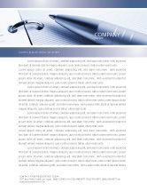 Business Concepts: Project Description Letterhead Template #07802
