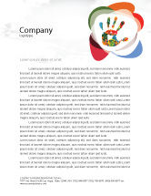 Education & Training: Colorful Hand Print Letterhead Template #07840
