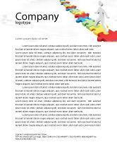 Careers/Industry: Jigsaw Path Letterhead Template #07872