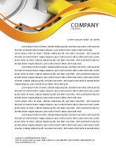 Utilities/Industrial: Spinning Gears Letterhead Template #07888