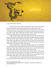 Holiday/Special Occasion: Chinese Dragon Letterhead Template #07985