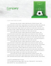 Sports: European Football Field Letterhead Template #08032