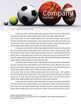 Sports: Sport Balls Letterhead Template #08071