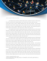 Technology, Science & Computers: Network Community Letterhead Template #08199