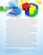 Business Concepts: Fitting Pieces Letterhead Template #08326