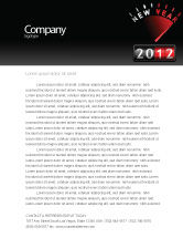 Business: N Yr Speedometer Letterhead Template #08353