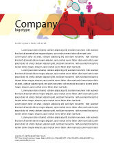 Telecommunication: Communication Area Letterhead Template #08426