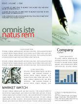 Financial/Accounting: Modèle de Newsletter de signature du chèque #00634