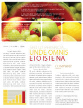 Food & Beverage: Fresh Fruits Of Summer Newsletter Template #00689
