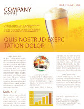 Food & Beverage: Beer Tumbler Newsletter Template #00750