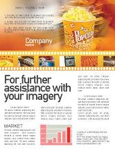 Art & Entertainment: Popcorn Newsletter Template #00962