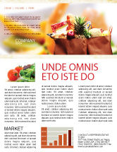 Food & Beverage: Grocery Bag Newsletter Template #00972