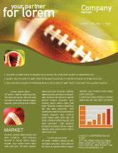 Sports: Ball Lacing Newsletter Template #01254