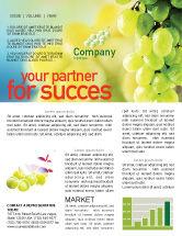 Food & Beverage: White Grape Newsletter Template #01281