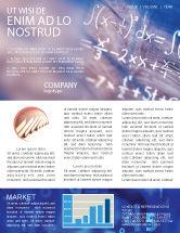Education & Training: Higher Mathematics Newsletter Template #01343