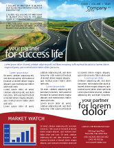 Construction: Highway Under Blue Sky Newsletter Template #01358