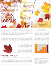 Nature & Environment: Falling Leaves In The Sunset Newsletter Template #01454