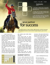 America: Cowboy Newsletter Template #01588