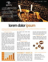 Food & Beverage: Coffee Beans In A Bag Newsletter Template #01613