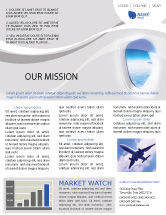 Cars/Transportation: Airplane Newsletter Template #01635